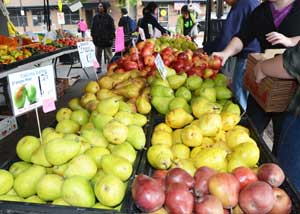 Pears from Yakima in Renton Farmers Market