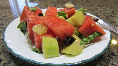 Balsamic Watermelon Cucumber Salad